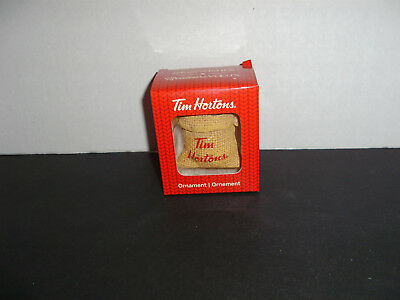 Tim Hortons Coffee Sack Ornament Christmas New In Box 2016 Collectible Christmas
