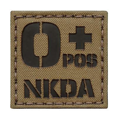 o+ blood type NKDA OPOS infrared IR coyote brown morale laser hook&loop patch