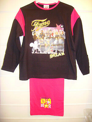 Fame Black Quality Girls Pyjamas Aged 5-6 Years Long Sleeves and Legs
