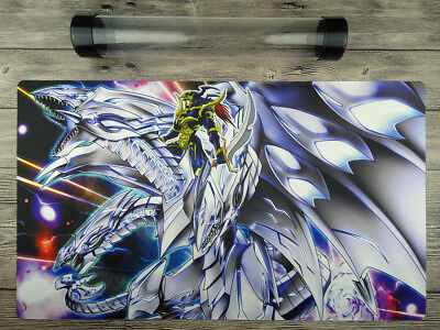 YuGiOh BLUE EYES ULTIMATE DRAGON OCG Playmat TCG Mat Free high quality tube