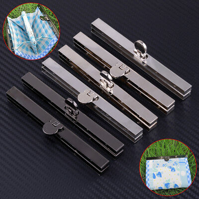 2 Set 11.5cm Purse Wallet Frame Bar Edge Strip Clasp Metal Openable Edge