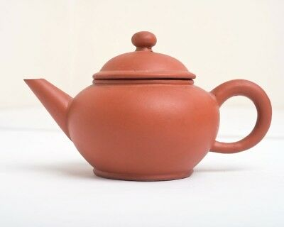 Vintage / Antique Chinese Yixing Miniature Terracotta Clay Teapot chracter mark