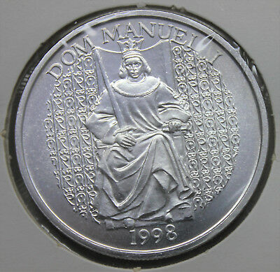 Portugal 1998 Silver Coin 1000 Escudos/ King Dom Manuel I, The Fortunate