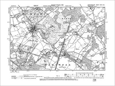 Welwyn, Digswell Water, Old Map Hertfordshire, 1899: 28NE