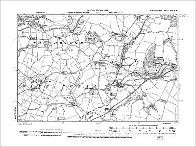 Wareside, Helham Green, Old Map Hertfordshire, 1899: 30NW