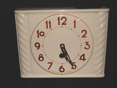 Ancienne Horloge Murale Jaz En Faience / Pendule Old Clock