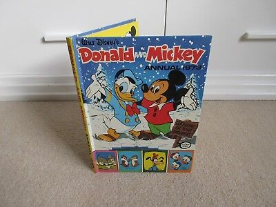 DONALD AND MICKEY  ANNUAL 1973  - Very Good Condition - ( WALT DISNEY)