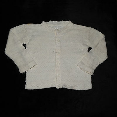 Vintage Baby Girls Cardigan Sweater Approx 12 Months Vgvc