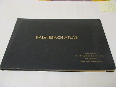 1935 PALM BEACH Atlas Maps Florida Mar-a-Lago Hotels Golf JFK Trump only 3 known