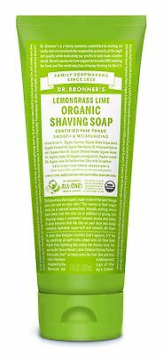 DR BRONNER`S ORGANIC LEMONGRASS LIME SHAVING GEL 207ml -FAIR TRADE