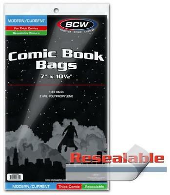 BCW 100 Thick Current Resealable Comic Bags and Boards Archival Storage