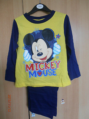Mickey Mouse Boys Pyjamas Aged 3-4 Years Long Sleeves and Legs