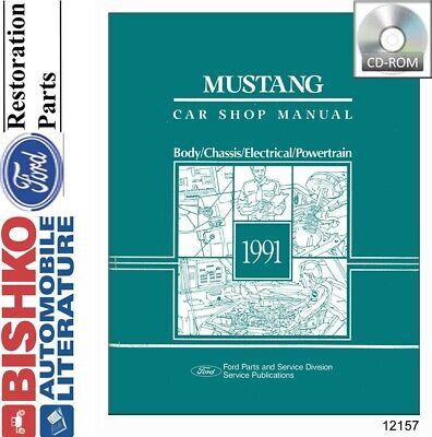 1999 Ford Mustang Shop Service Repair Manual CD Engine Drivetrain Electrical OEM