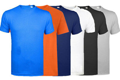 Mens Pack of 2, 3 & 5 lot Multi-pack Plain Basic Cotton Casual T- Shirt Tee Top