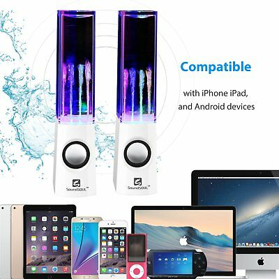 Speaker Wireless Bluetooth Water Show LED Light Fountain Dancing Rechargeable US