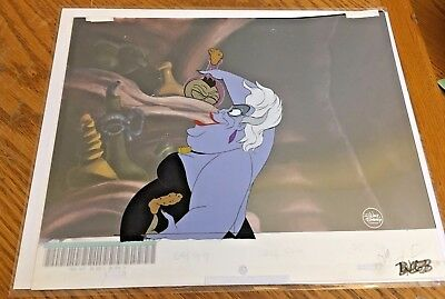 Little Mermaid (1989) Production cel Ursula Sea Witch Ariel background Ursulla