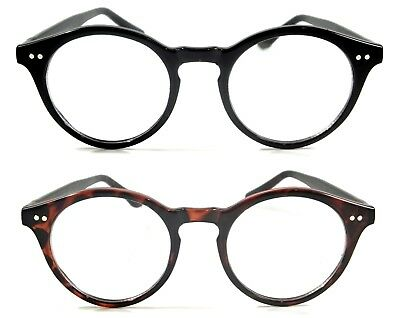 Retro Smart Clear Lens Glasses Classic Butler Nerd Men Women Vintage Round Frame