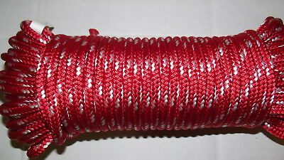 """3/8"""" (10mm) x 85' Sail/Halyard Line, Double Braid Polyester, Jibsheet, Boat Rope"""