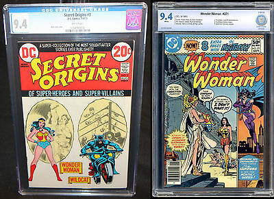 Comic Lot (2) Secret Origins 3 CGC NM 9.4 & Wonder Woman 271 CBCS NM 9.4