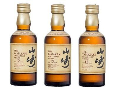 Suntory Yamazaki 12 Year Old Japanese Whisky 3 x 50ml Glass Miniature