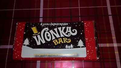 Willy Wonka  XMAS (REPLICA) Chocolate Bar, Novelty Great Gift Stocking Filler