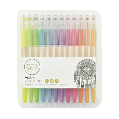 NEW Kaisercraft Colour Gel Pens 24 Pack By Spotlight
