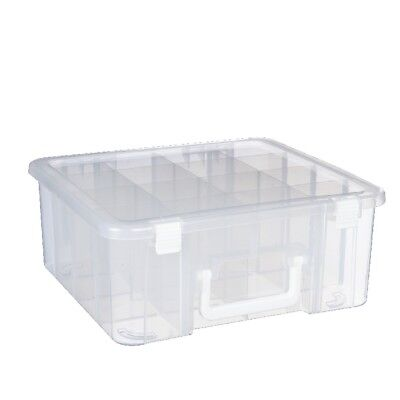 NEW Francheville Storage Box With Dividers & Handle By Spotlight