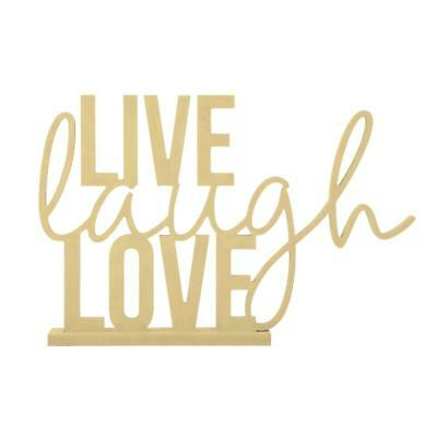 NEW Kaisercraft Kaiserwood Stand Phrase Live Laugh Love By Spotlight