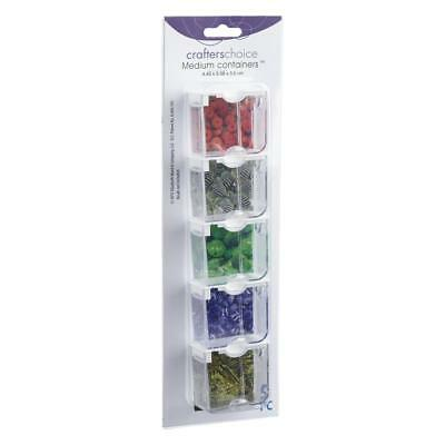 NEW Crafters Choice Medium Bead Containers By Spotlight