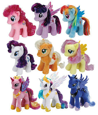 Ty Stofftier Plüschtier My Little Pony Fluttershy Rainbow Dash Pinkie Pie Rarity
