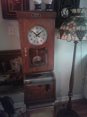 antique 1900s german punch clock