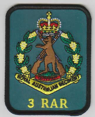 3Rd Bn Rar Patch With Skippy Badge  Heat Adhesive Backing 70 X 90Mm Infantry
