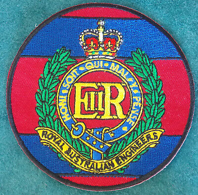Royal Australian Engineers Rae Patch Heat Adhesive Backing 90Mm Diameter