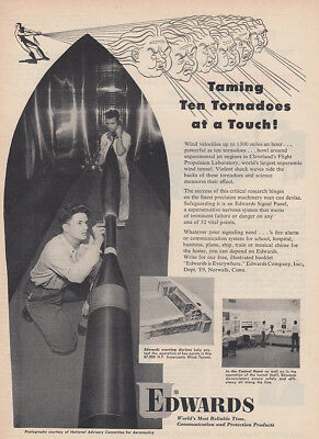 1952 Edwards Company: Taming Ten Tornadoes at a Touch Vintage Print Ad