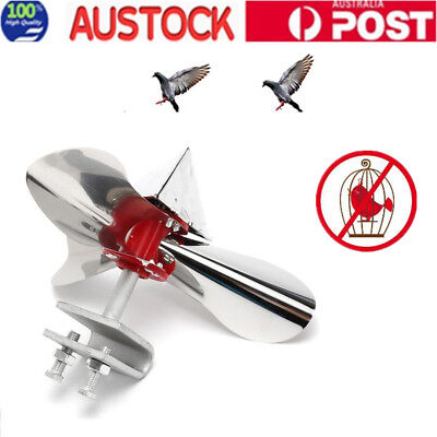 30cm Bird Repeller Scarer Wind Power Tools Bird Pigeon Crow Deterrent Steel
