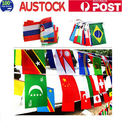 100 Countries String Flag International World Bar Party Bunting Banner 25m