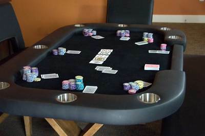Helmsely Poker Table with Dining Top - Black [ID 2239584]