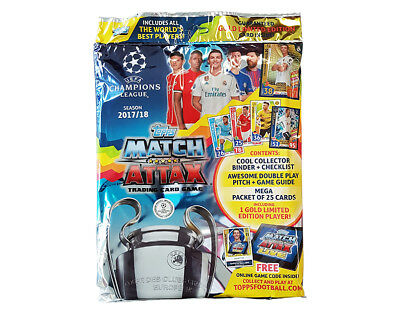 TOPPS MATCH ATTAX UEFA Champions League 2017/2018 Edition Starter Pack + 30 FREE