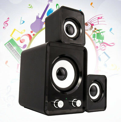 2.1 PC Desktop USB Mini Stereo Speakers Computer Sound System Wired Surround