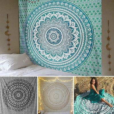 2.15X1.4mLarge Indian Tapestry Wall Hanging Mandala Hippie Bohemian Bedspread AU