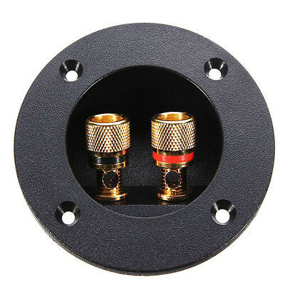 Plug Round Boxes With 2 Banana Jack Subwoofer Speaker Terminal Connectors