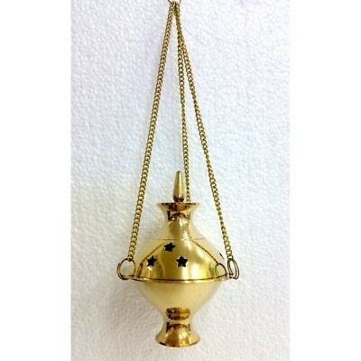 Brass Charcoal Holder - Hanging Censer Small CHARCOAL RESIN CONE BURNER-SHOP NOW