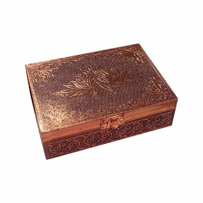 Aluminium Copper Plated Lotus Jewelry  Box Container Crystals Tarot Cards