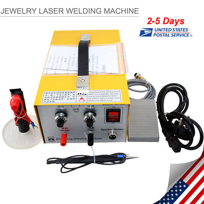 JEWELRY WELDING MACHINE ELECTRIC PULSE SPARKLE SPOT WELDER JEWELRY TOOL【From US】