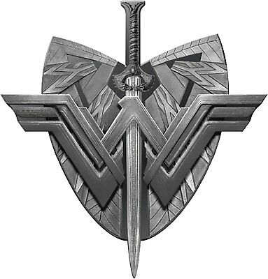 DC Wonder Woman Sword and Shield Logo Pewter Lapel Pin Novelty Accessory