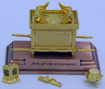 "Ark of the Covenant chest  4""X 2"",  w/ 10 Commandments, staff, pot of manna"