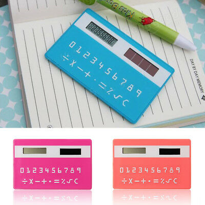 8 Digits Ultra Thin Solar Energy Power Slim Card Pocket Wallet Calculator