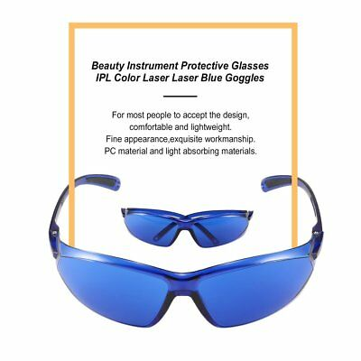 E Light/IPL/Photon Beauty Instrument Safety Protective Glasses Blue Goggles HT