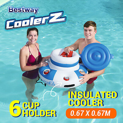 Inflatable Pool Beach Drinks Cooler Floating Bar Beer Holder Ice Tub Chiller