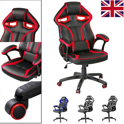 High Back Executive Office Computer Chair Luxury Sport Gaming Racing Seat Swivel